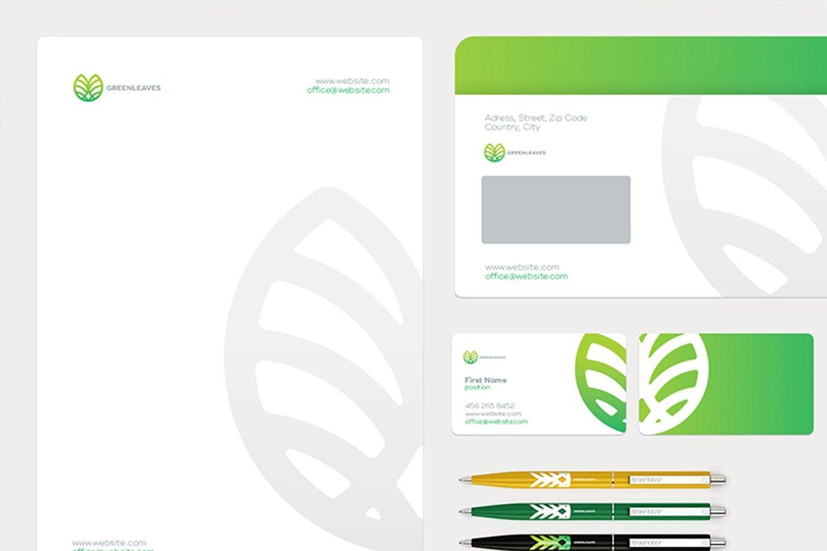 品牌VI设计提案办公文创信纸名片信封汽车展示样机 Stationery / Branding PSD Mock-Up插图(8)
