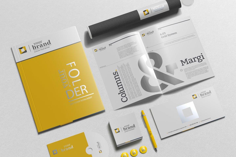 品牌VI设计提案办公文创名片画册便签纸展示样机 Branding-Stationery Mockups V3插图