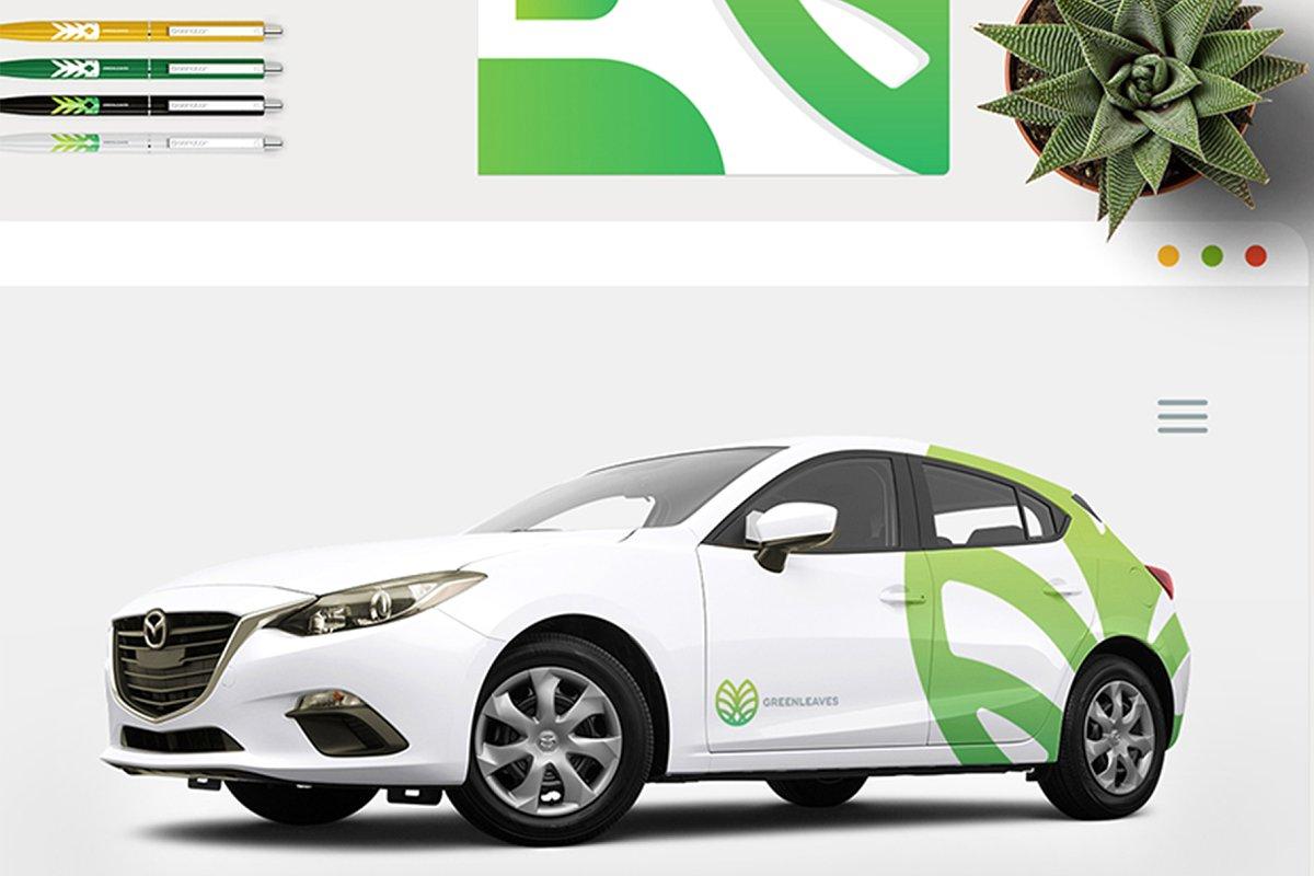 品牌VI设计提案办公文创信纸名片信封汽车展示样机 Stationery / Branding PSD Mock-Up插图(9)
