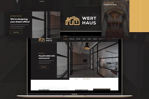 时尚简约建筑室内设计师电脑手机网站UI工具包  Werthaus Architecture UI Kit