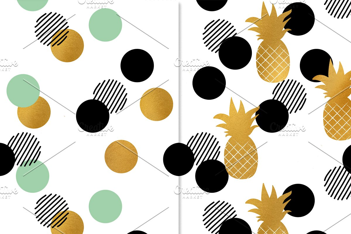 时尚夏季热带森林火烈鸟植物图案JPG合集 Trendy Tropic Patterns插图(4)