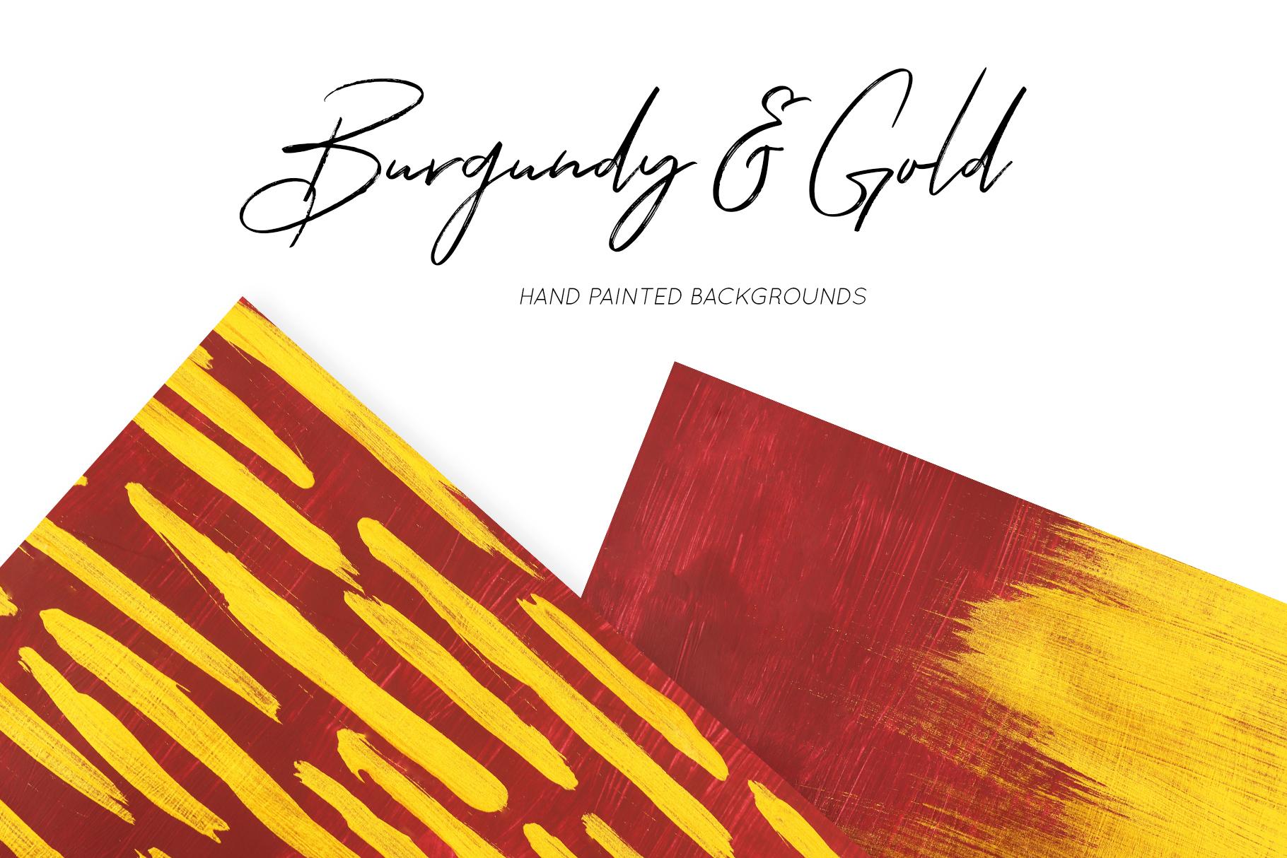 抽象手绘金色朱红漆背景纹理 Burgundy & Gold Abstract Backgrounds插图(5)