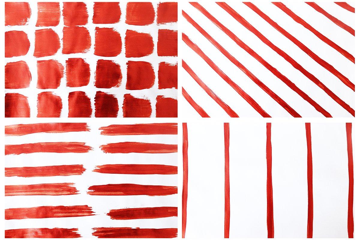 抽象手绘玫瑰红背景纹理 Rose Gold Abstract Background插图(3)