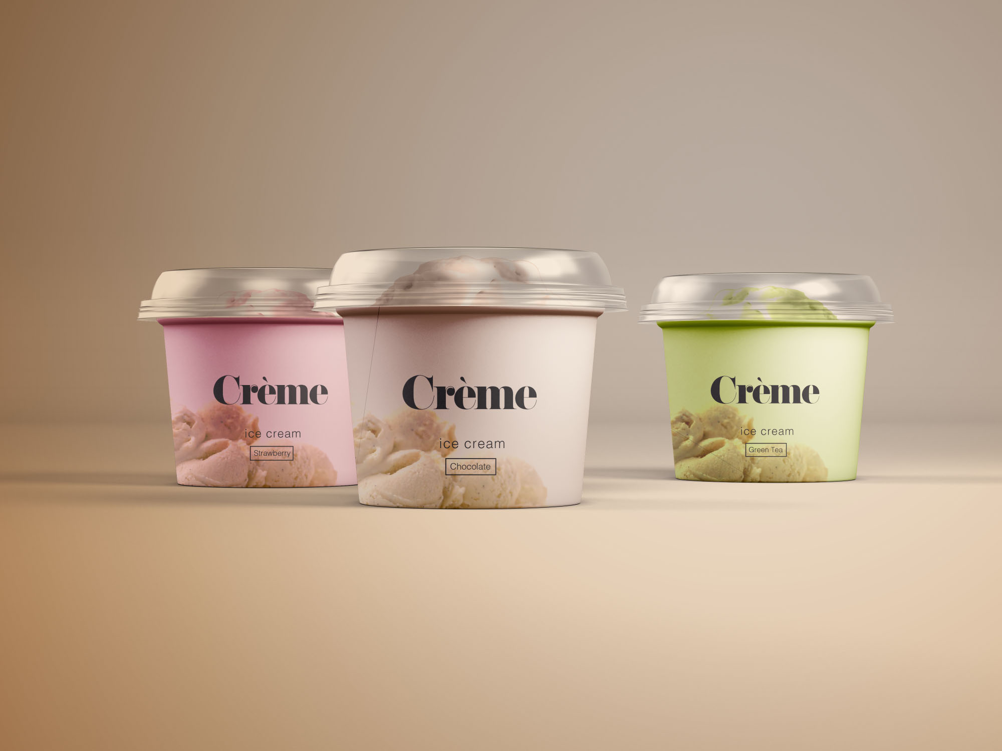 迷你冰激凌雪糕纸罐包装展示样机 Mini Ice Cream Cup Mockups – PSD插图