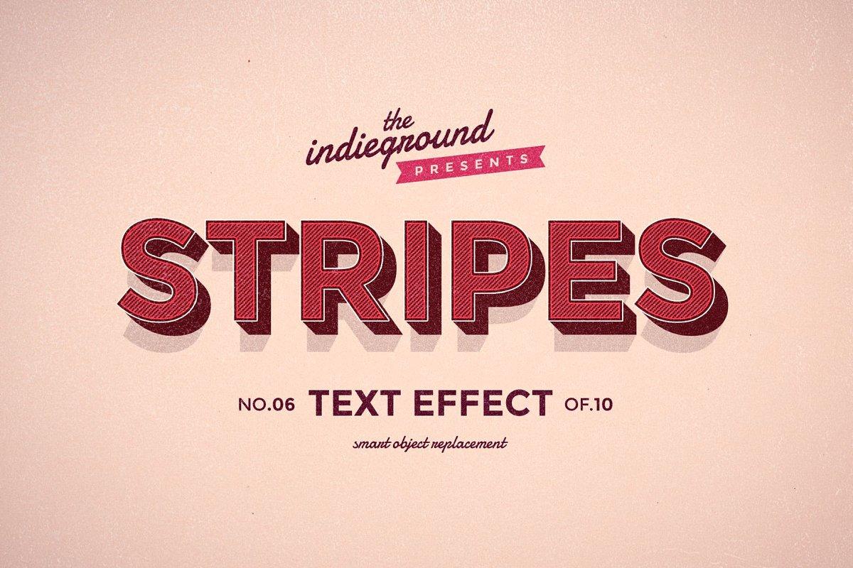 50年代很酷复古3D立体字图层样式组合 Retro Text Effects Complete Bundle插图(25)