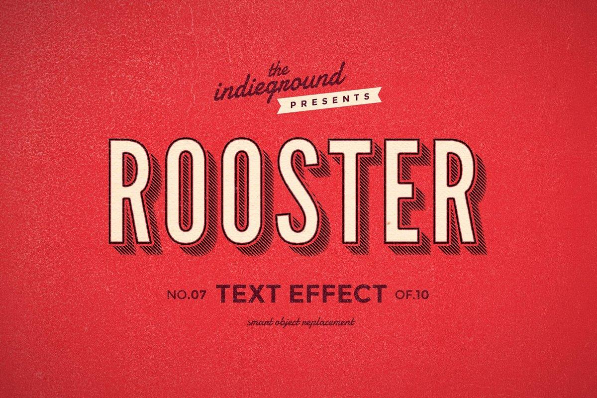 50年代很酷复古3D立体字图层样式组合 Retro Text Effects Complete Bundle插图(24)