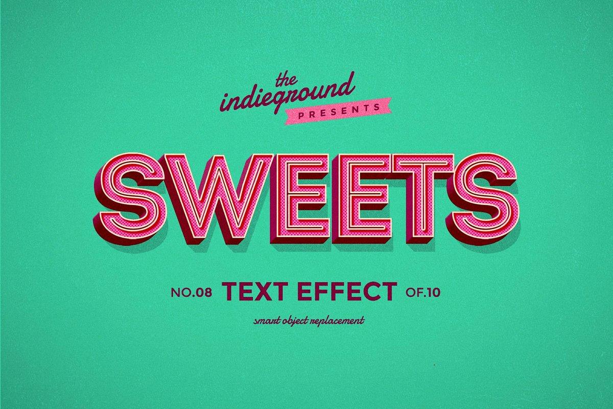 50年代很酷复古3D立体字图层样式组合 Retro Text Effects Complete Bundle插图(23)