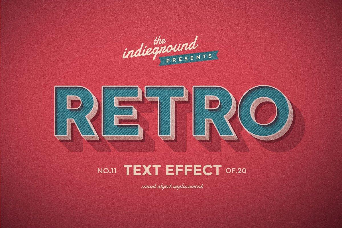 50年代很酷复古3D立体字图层样式组合 Retro Text Effects Complete Bundle插图(20)