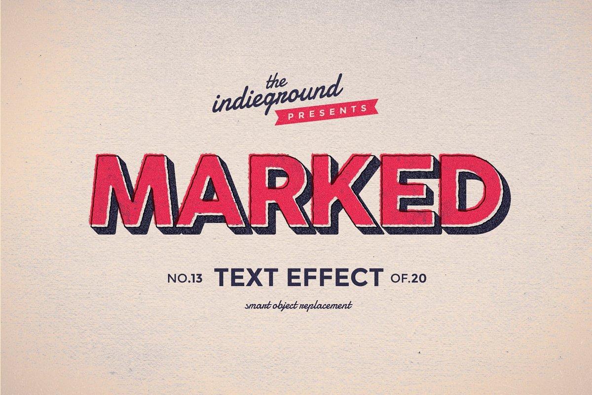 50年代很酷复古3D立体字图层样式组合 Retro Text Effects Complete Bundle插图(18)