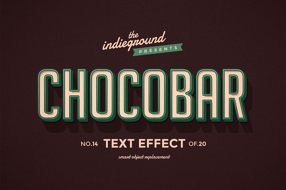 50年代很酷复古3D立体字图层样式组合 Retro Text Effects Complete Bundle插图(17)