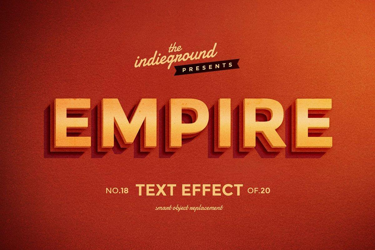 50年代很酷复古3D立体字图层样式组合 Retro Text Effects Complete Bundle插图(13)
