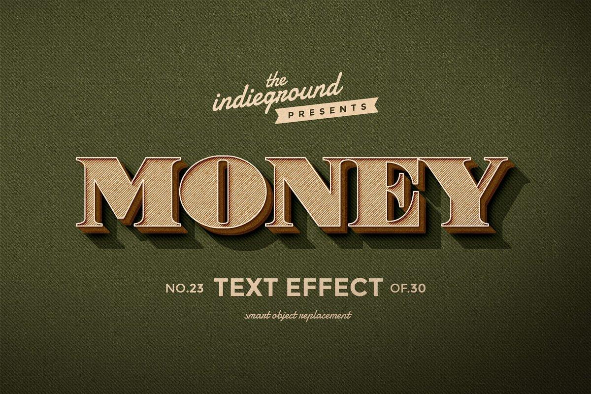 50年代很酷复古3D立体字图层样式组合 Retro Text Effects Complete Bundle插图(8)