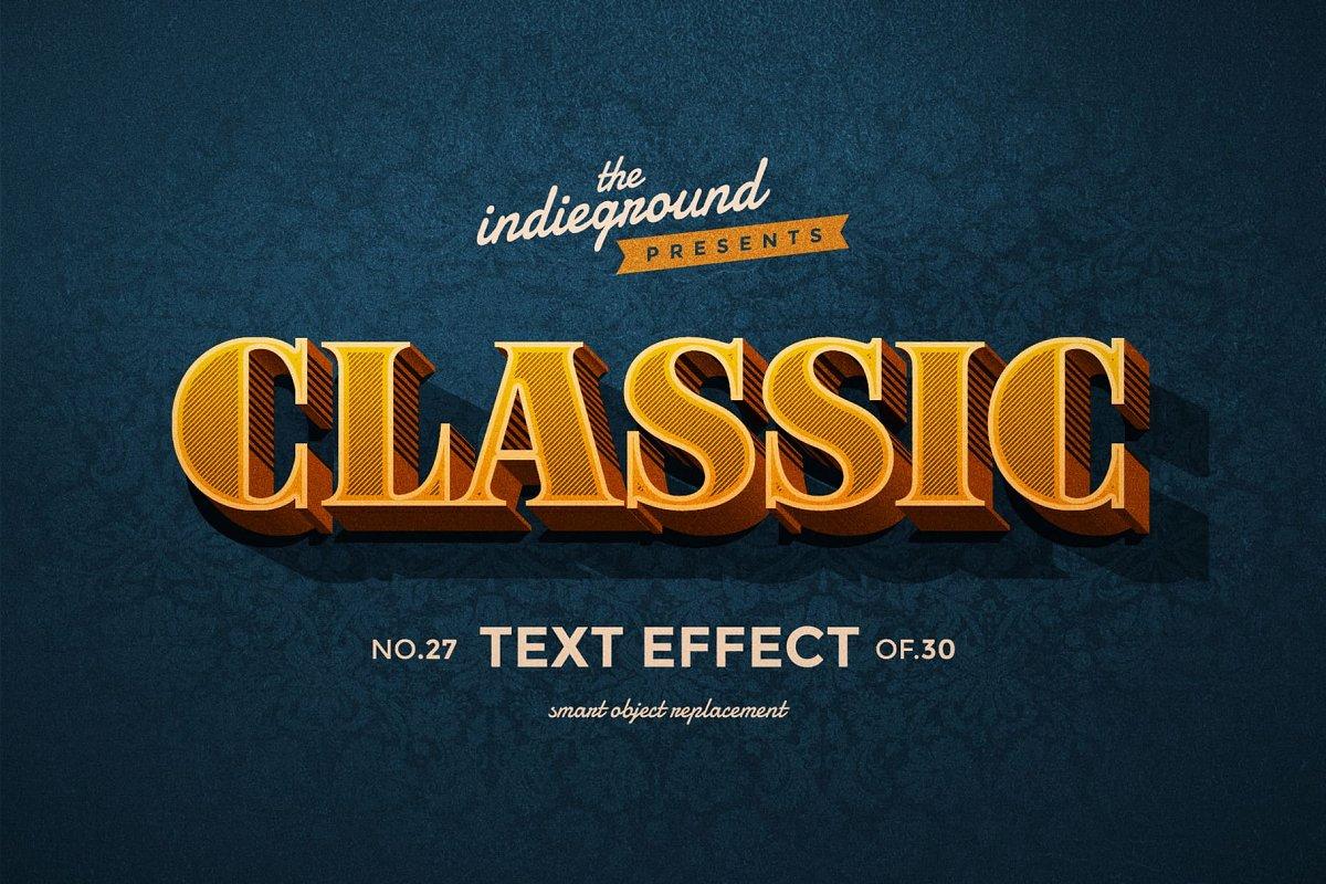 50年代很酷复古3D立体字图层样式组合 Retro Text Effects Complete Bundle插图(5)