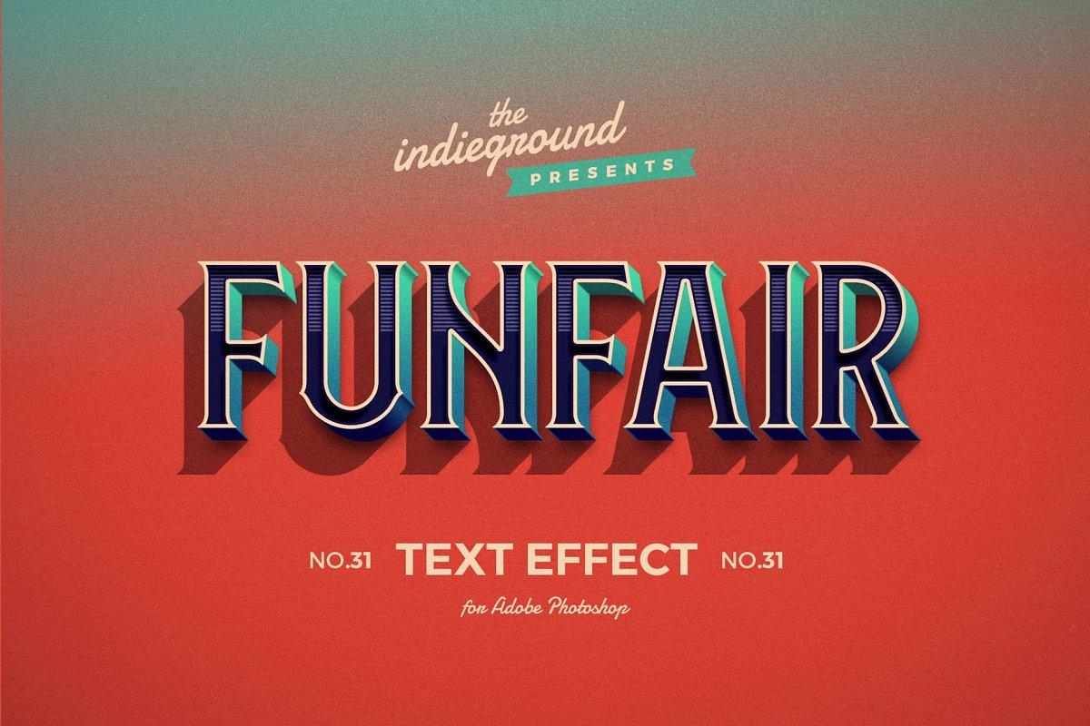 50年代很酷复古3D立体字图层样式组合 Retro Text Effects Complete Bundle插图(4)