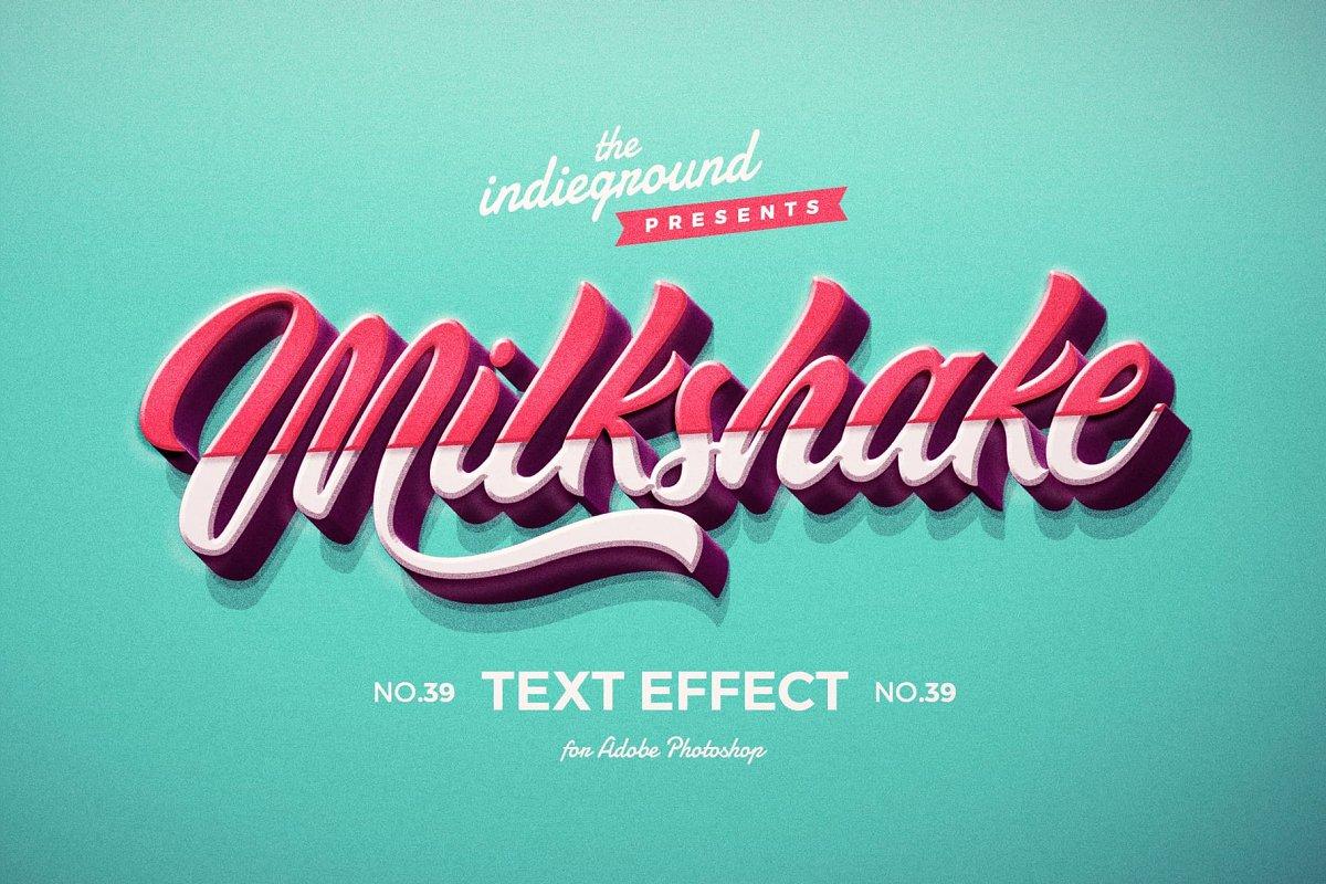 50年代很酷复古3D立体字图层样式组合 Retro Text Effects Complete Bundle插图(2)