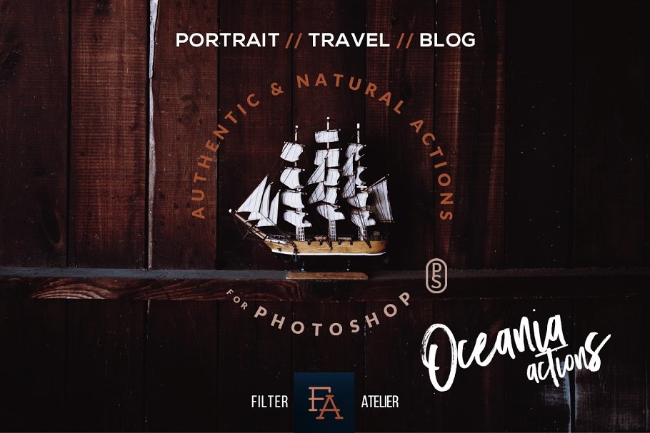 清爽旅行摄影照片修图PS动作 Oceania Photoshop Actions插图(7)