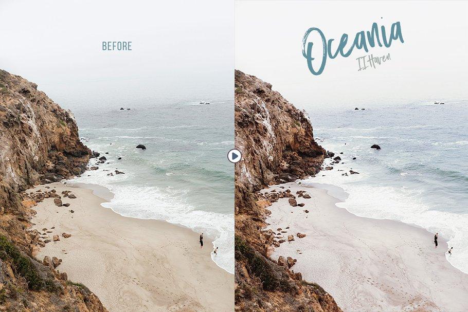 清爽旅行摄影照片修图PS动作 Oceania Photoshop Actions插图(5)