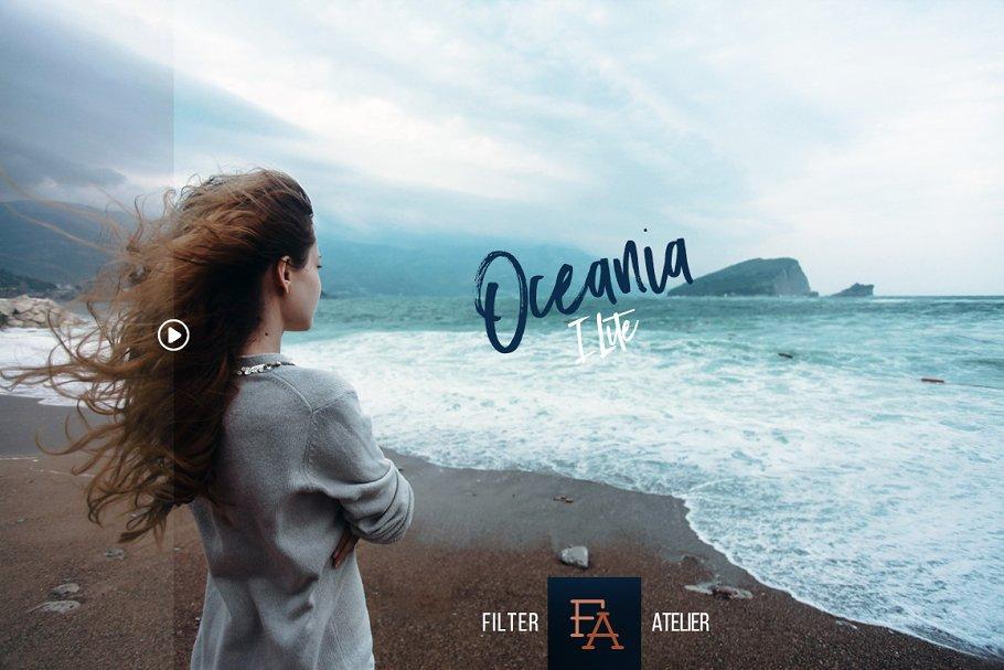 清爽旅行摄影照片修图PS动作 Oceania Photoshop Actions插图(1)