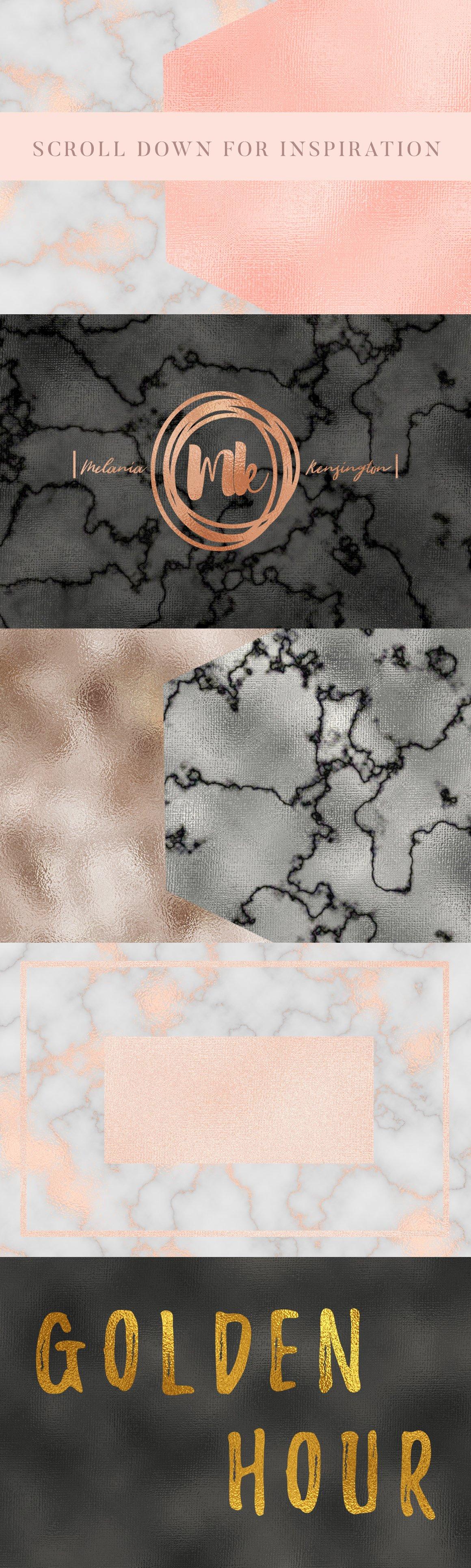50款华丽金色数码纸&大理石背景纹理 50 Gold &Marble Glam Textures插图(5)