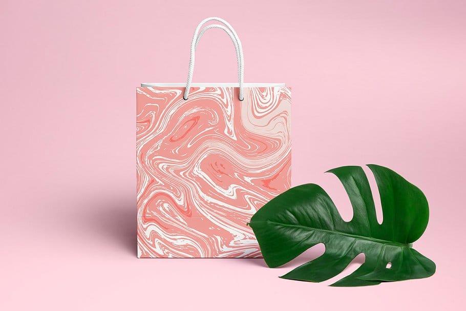 婚礼请柬包装背景印刷大理石纹理 Set Marble Vector Textures.插图(2)