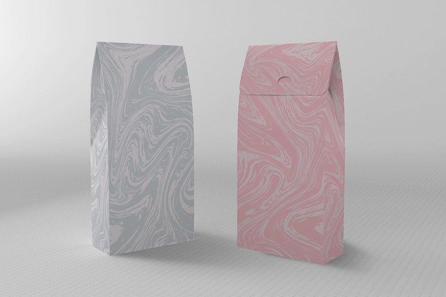 婚礼请柬包装背景印刷大理石纹理 Set Marble Vector Textures.插图(20)