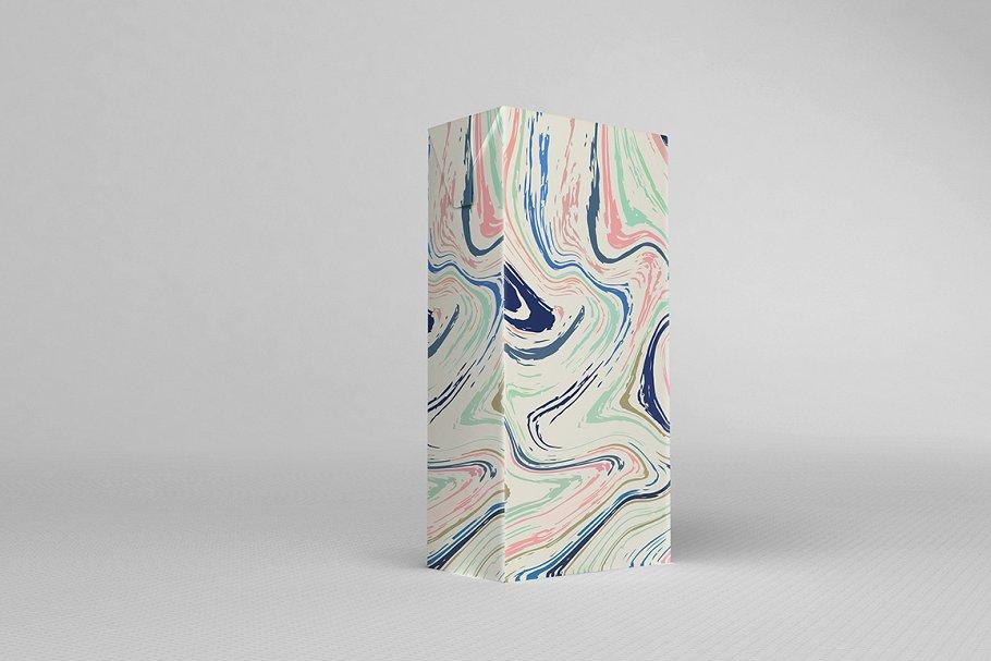 婚礼请柬包装背景印刷大理石纹理 Set Marble Vector Textures.插图(3)