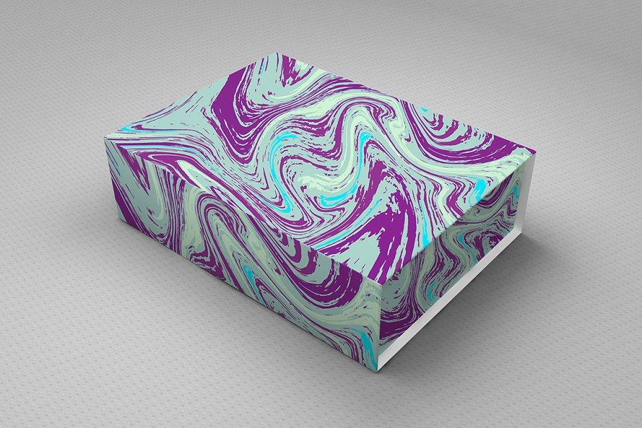 婚礼请柬包装背景印刷大理石纹理 Set Marble Vector Textures.插图(5)