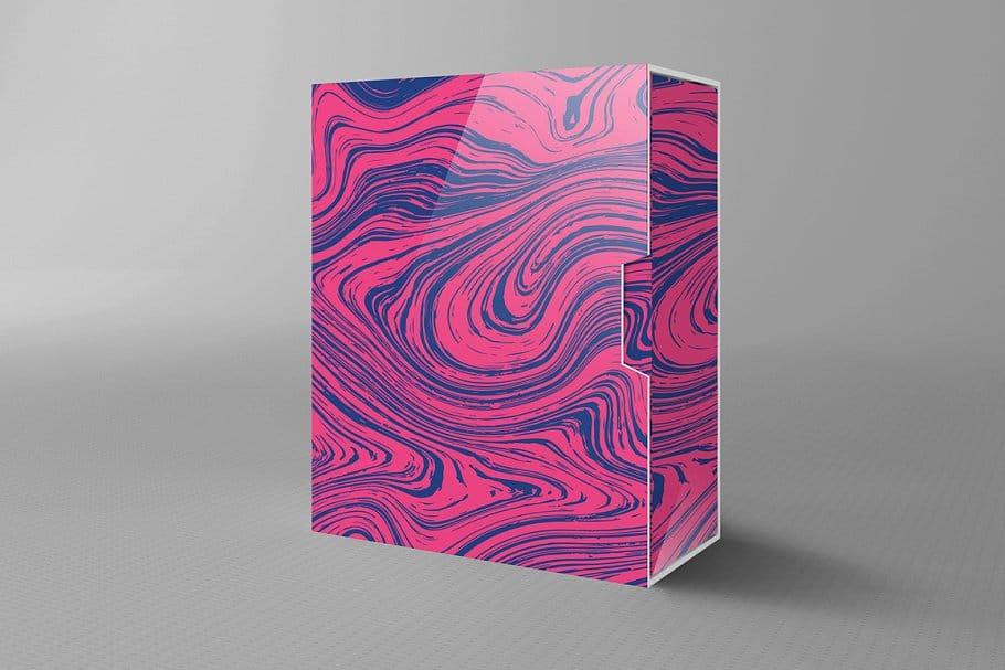 婚礼请柬包装背景印刷大理石纹理 Set Marble Vector Textures.插图(6)