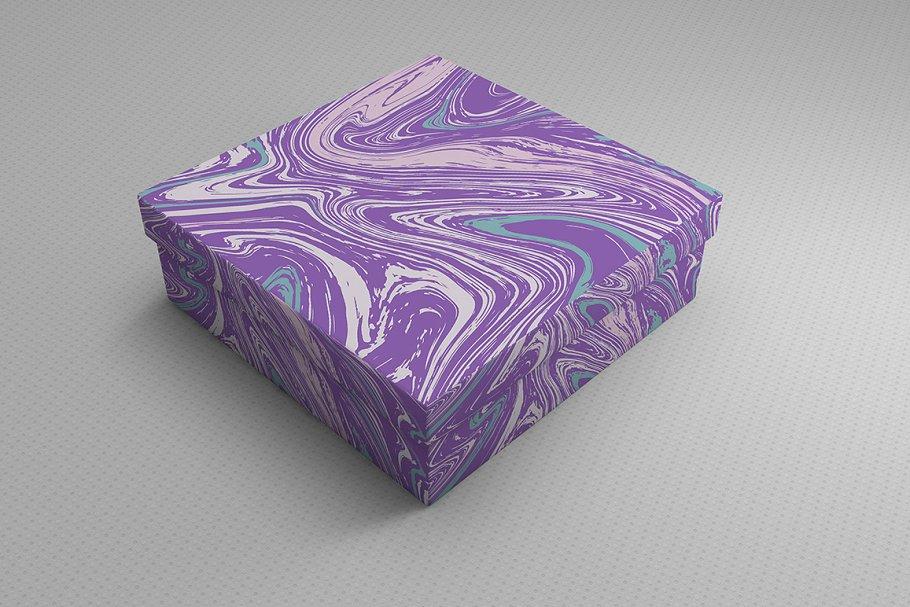 婚礼请柬包装背景印刷大理石纹理 Set Marble Vector Textures.插图(8)