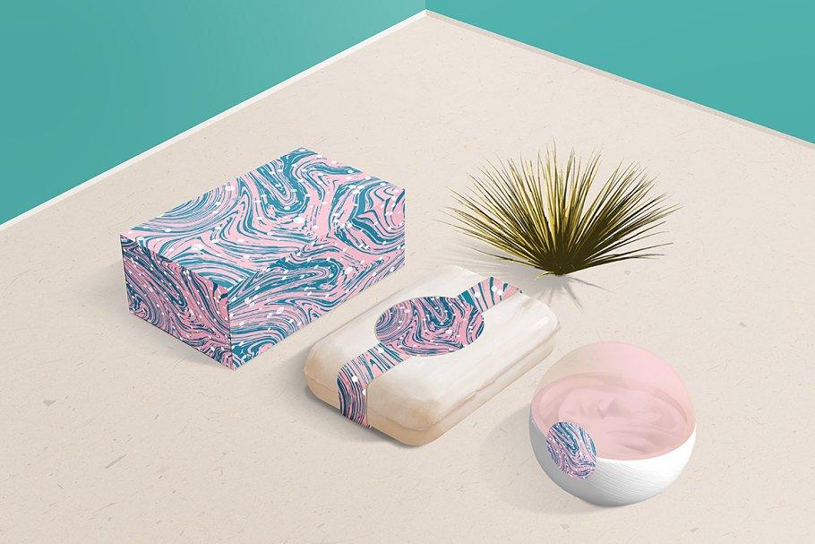 婚礼请柬包装背景印刷大理石纹理 Set Marble Vector Textures.插图(17)
