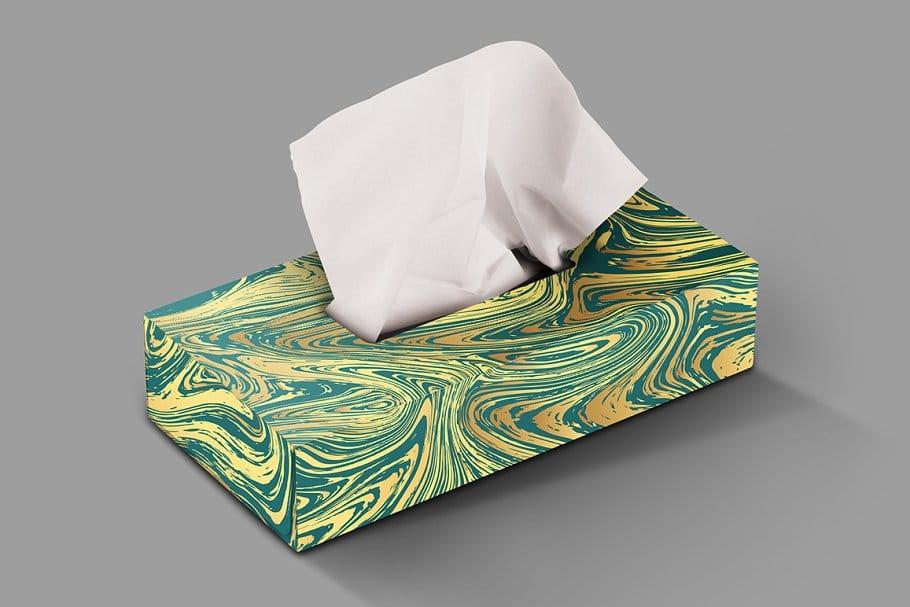 婚礼请柬包装背景印刷大理石纹理 Set Marble Vector Textures.插图(18)