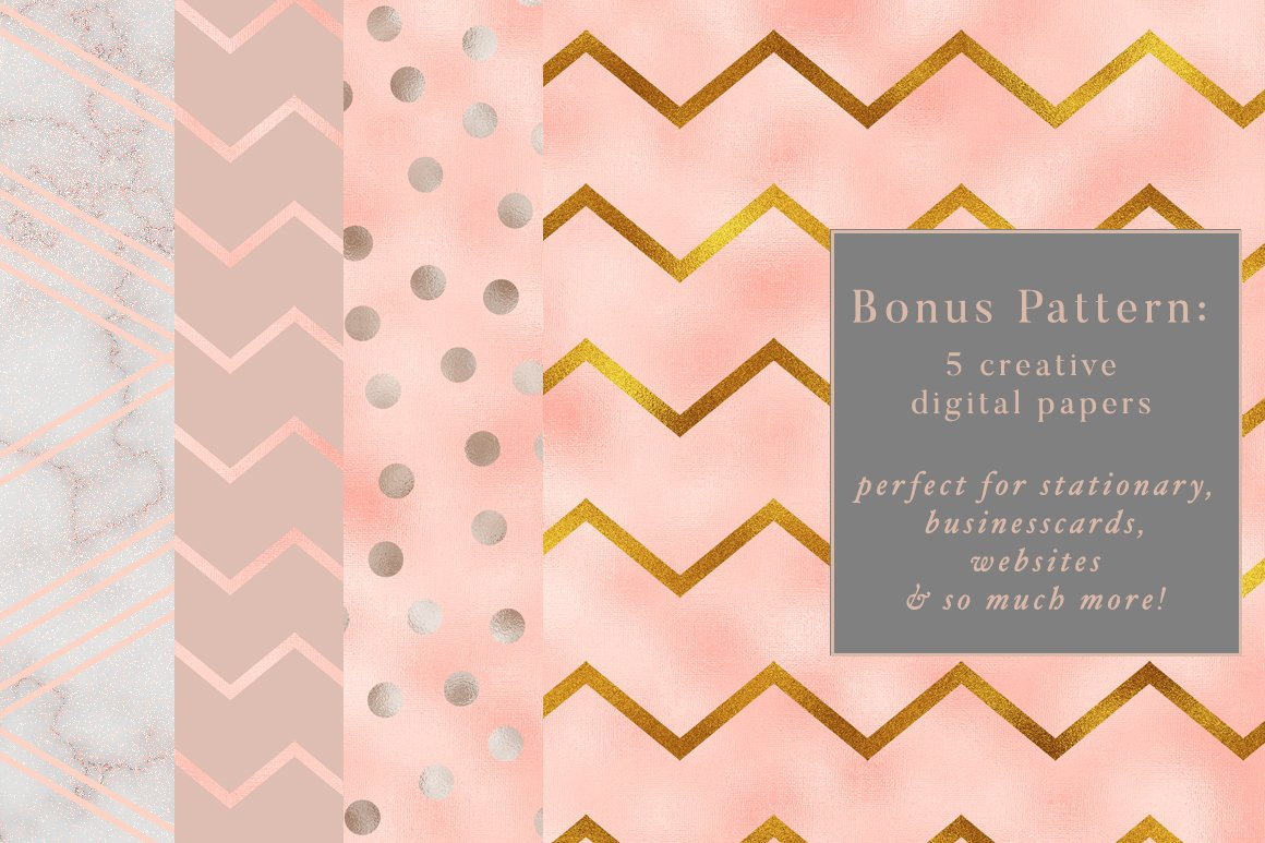 50款华丽金色数码纸&大理石背景纹理 50 Gold &Marble Glam Textures插图(6)