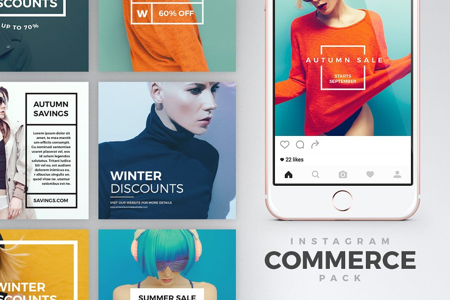 时尚豪华的服装产品营销海报INS风模板 Luxury Instagram Bundle插图(2)
