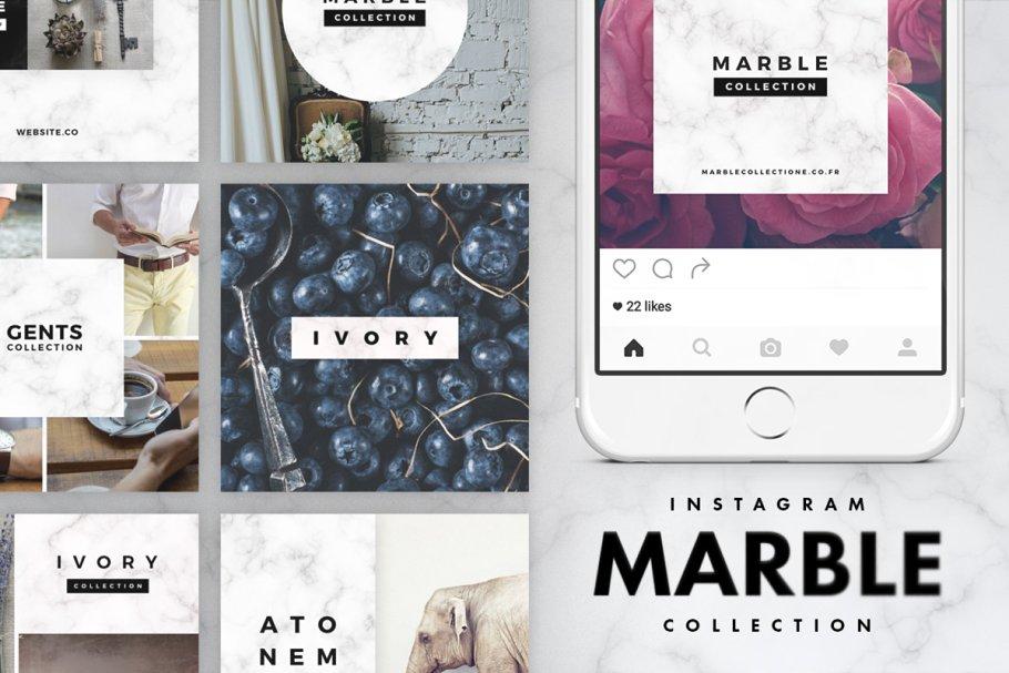 时尚豪华的服装产品营销海报INS风模板 Luxury Instagram Bundle插图(6)