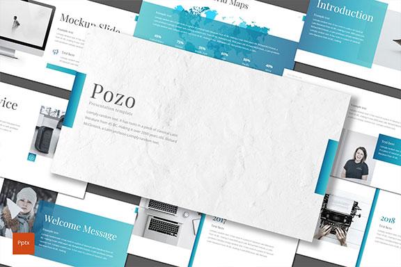 极简的工作汇报企业介绍PPT模板KEY幻灯片SLIDES演示文稿 Pozo – Business Powerpoint, Keynote and Google Slides Templates