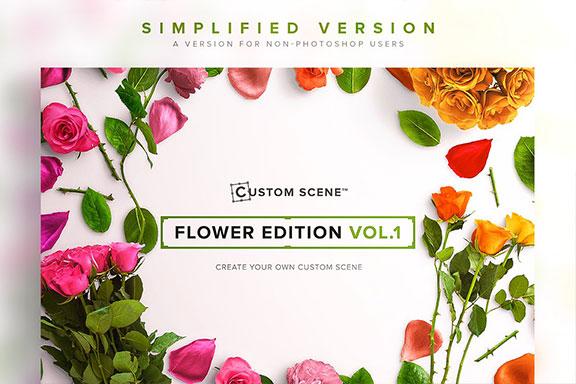 高品质的婚礼情人节贺卡PSD模板 Simplified – Flower Ed. Vol. 1