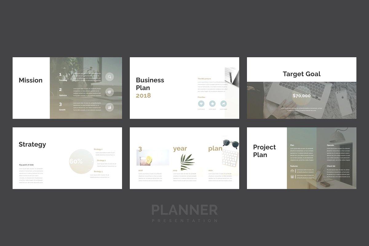 精美的设计师品牌作品艺术品展示PPT幻灯片KEY模板 Planner PowerPoint, Keynote Template插图(2)
