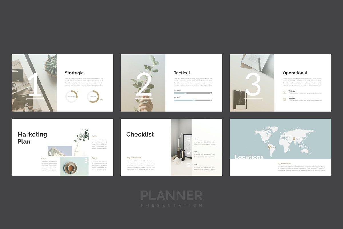 精美的设计师品牌作品艺术品展示PPT幻灯片KEY模板 Planner PowerPoint, Keynote Template插图(5)