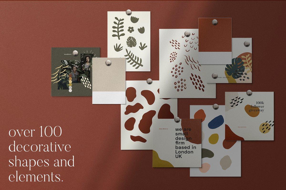 时尚几何图形装饰女性服装营销海报INS模板 VORMA – Instagram Square Template插图(6)