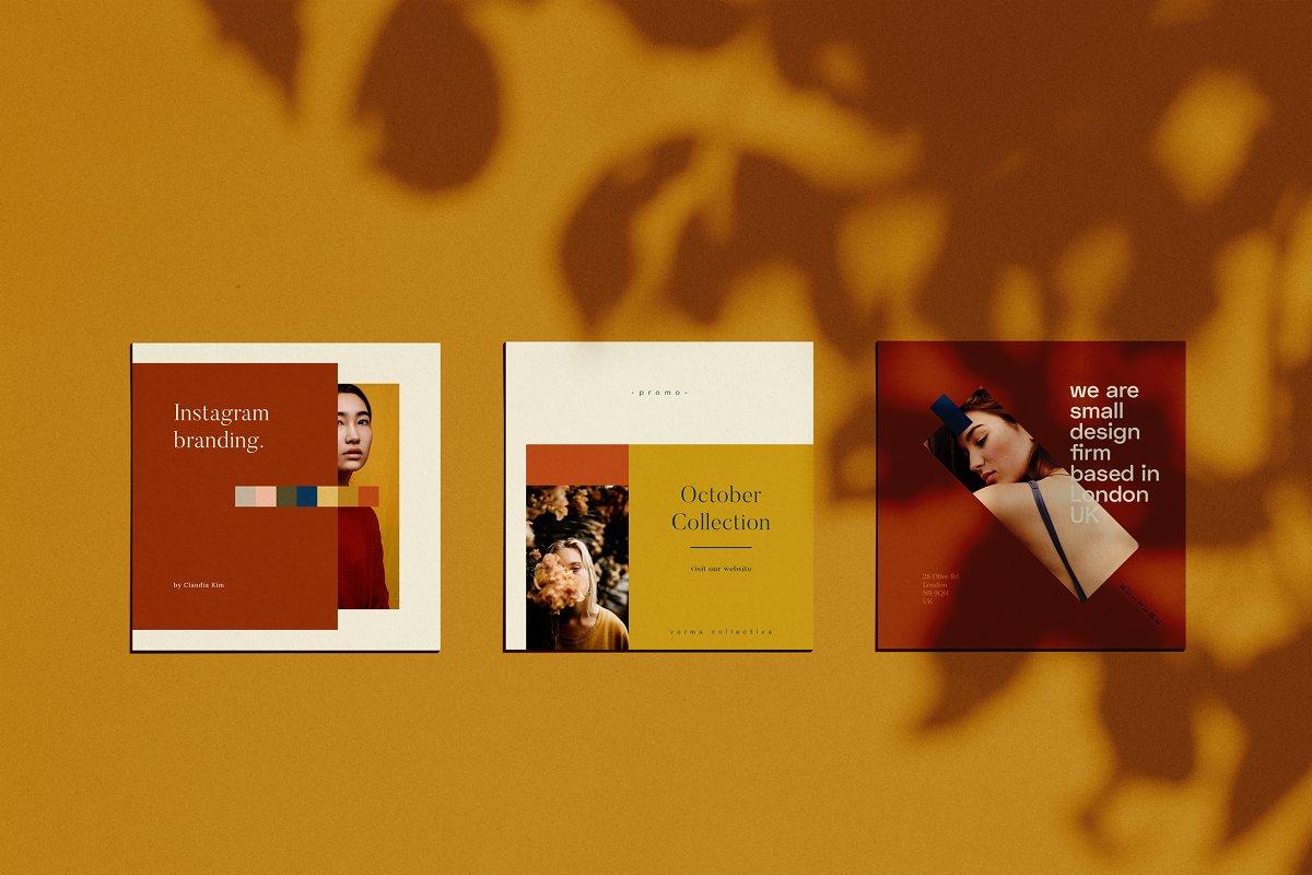 时尚几何图形装饰女性服装营销海报INS模板 VORMA – Instagram Square Template插图(5)