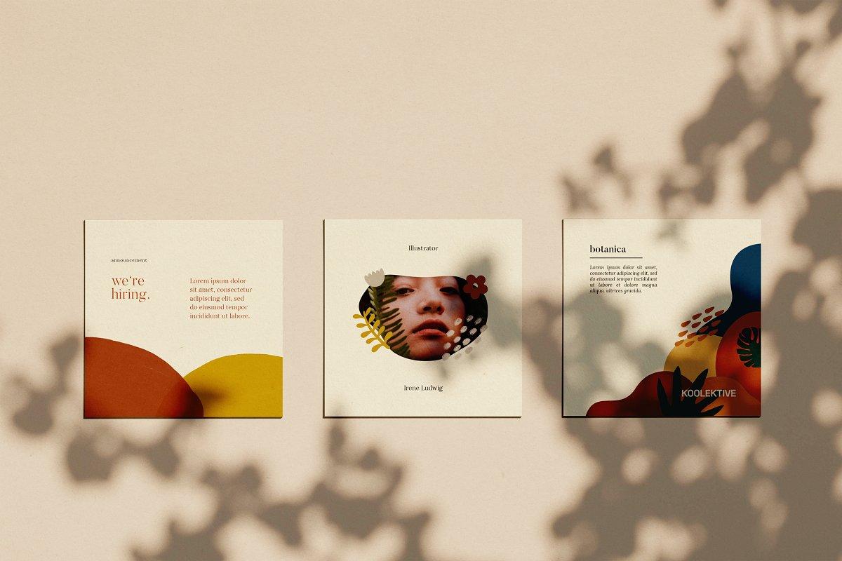 时尚几何图形装饰女性服装营销海报INS模板 VORMA – Instagram Square Template插图(4)