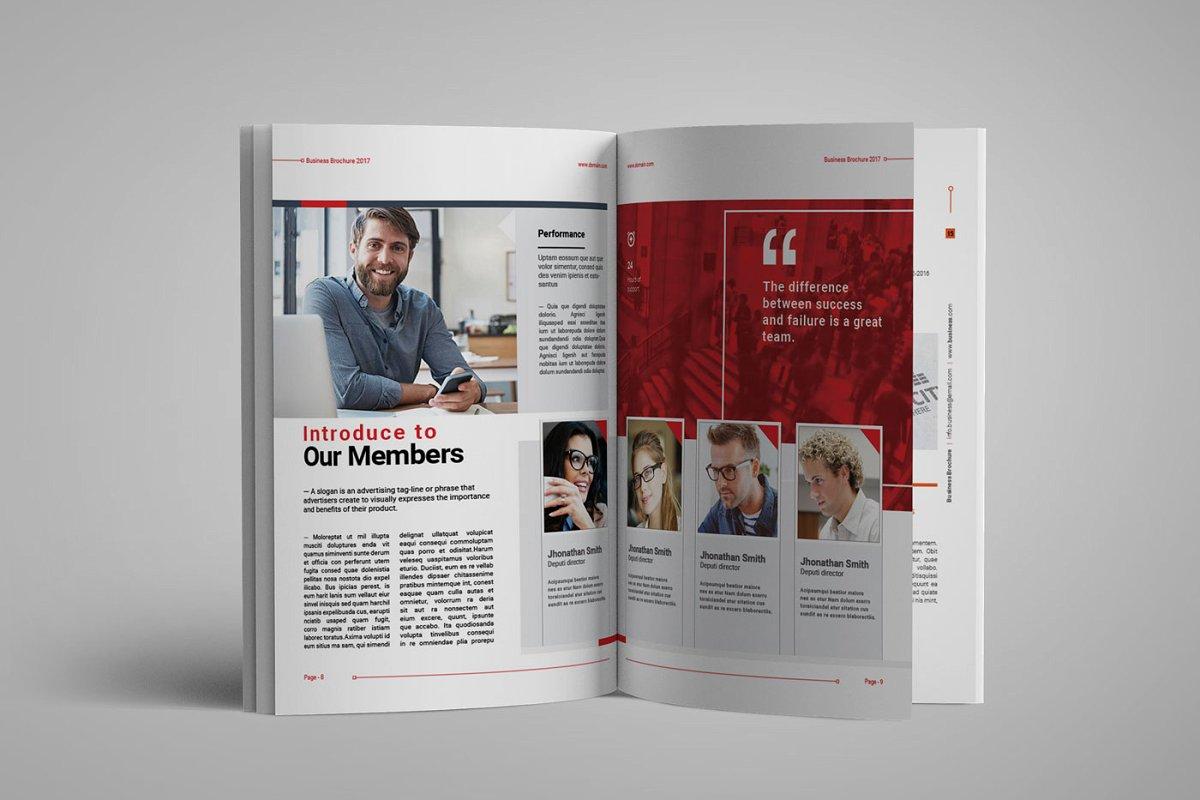 企业业务营销宣传册INDD模板 Exeelo Profile Brochure插图(3)