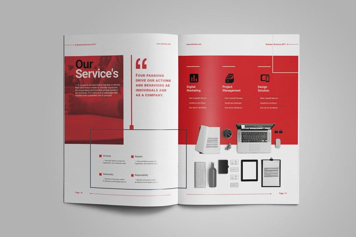 企业业务营销宣传册INDD模板 Exeelo Profile Brochure插图(5)