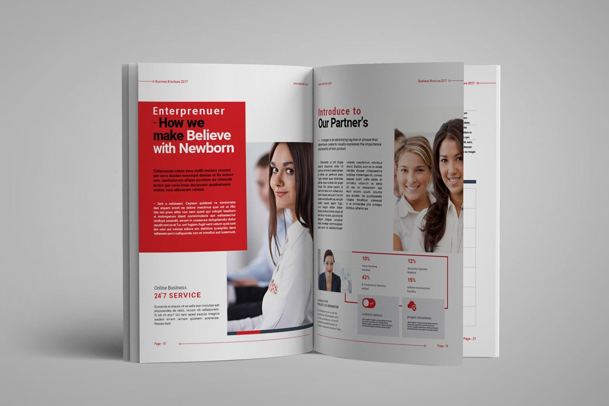 企业业务营销宣传册INDD模板 Exeelo Profile Brochure插图(6)