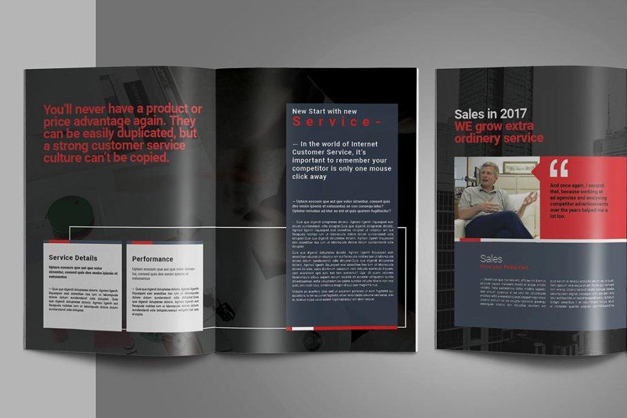 企业业务营销宣传册INDD模板 Exeelo Profile Brochure插图(7)