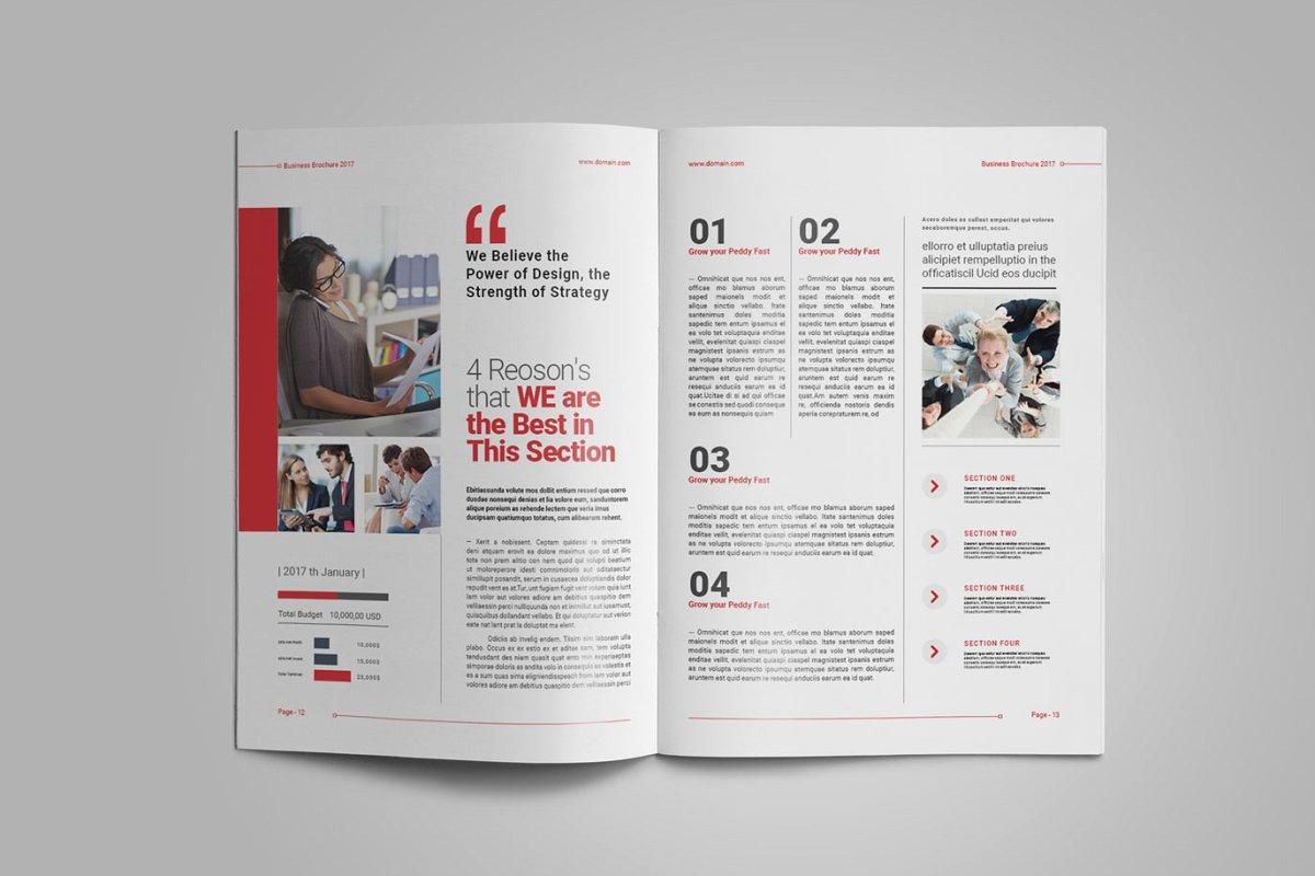 企业业务营销宣传册INDD模板 Exeelo Profile Brochure插图(8)