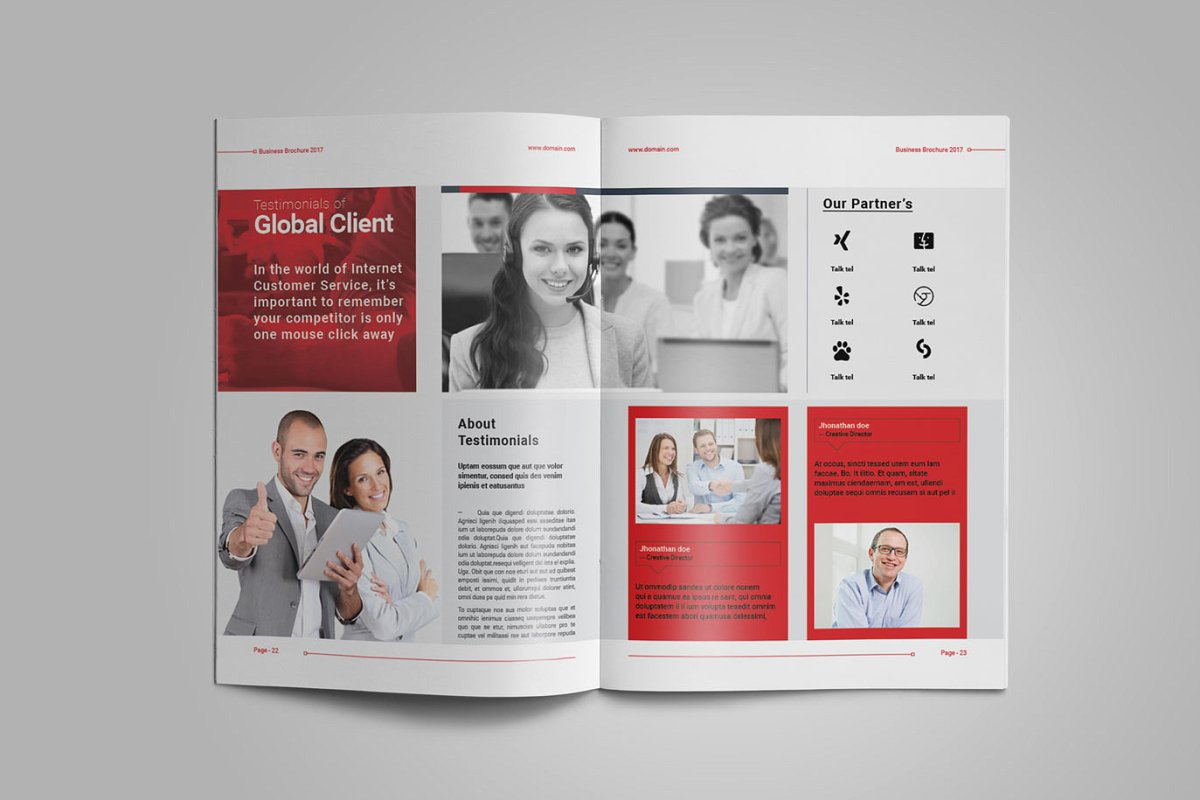 企业业务营销宣传册INDD模板 Exeelo Profile Brochure插图(9)