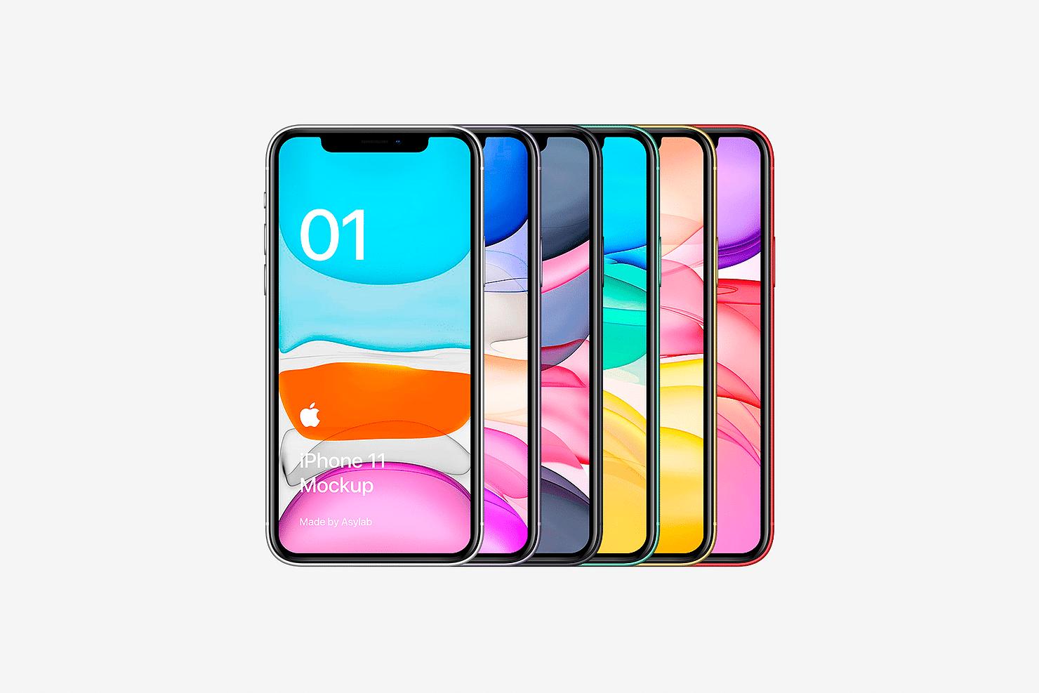 全新iPhone 11手机屏幕界面演示样机PSD模板 iPhone 11 Mockup PSD插图
