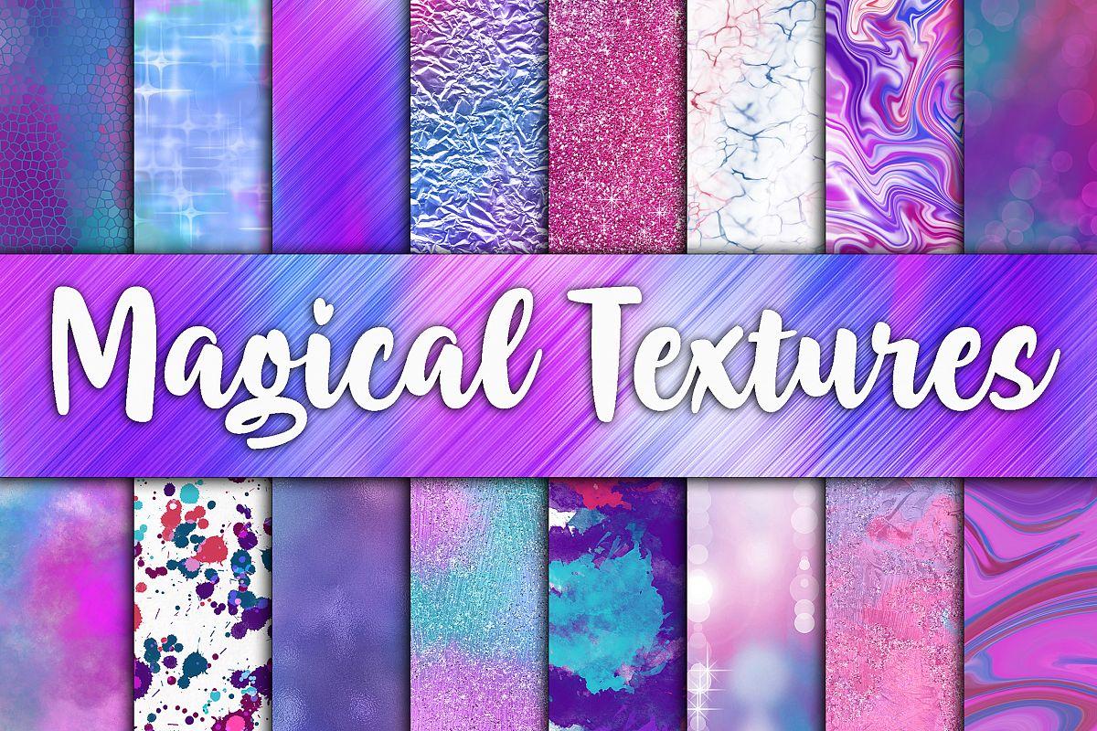 神奇的闪亮闪亮的魔法贴图背景纹理 Magical Textures Digital Papers插图