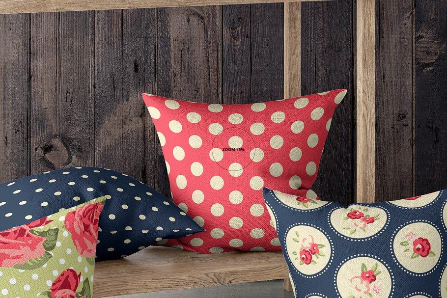 室内场景枕头抱枕样机集 Interior Scene Pillow Mockup Set插图(5)